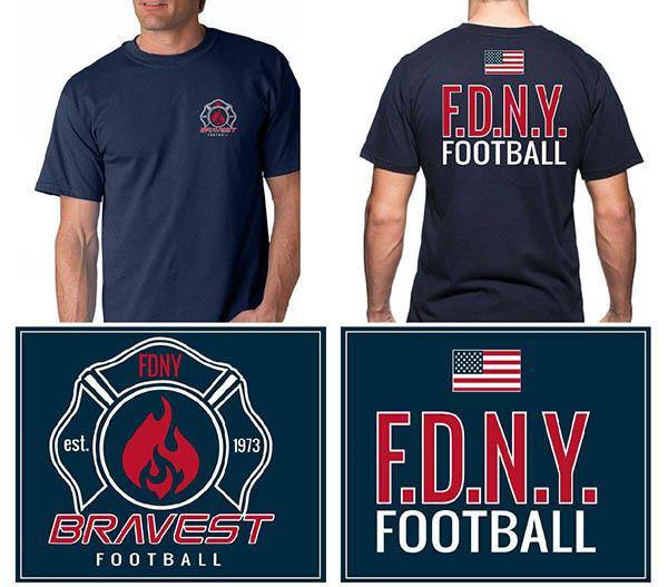FDNY Bravest Football Long Sleeved T-Shirt